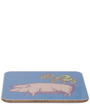 Blue Puddin' Head Pig Coaster