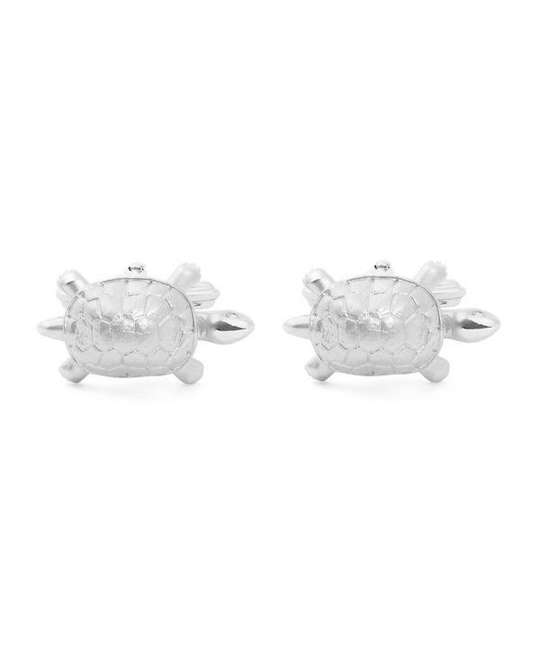 Silver-Tone Turtle Cufflinks