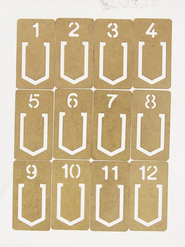 Brass Number Paperclips