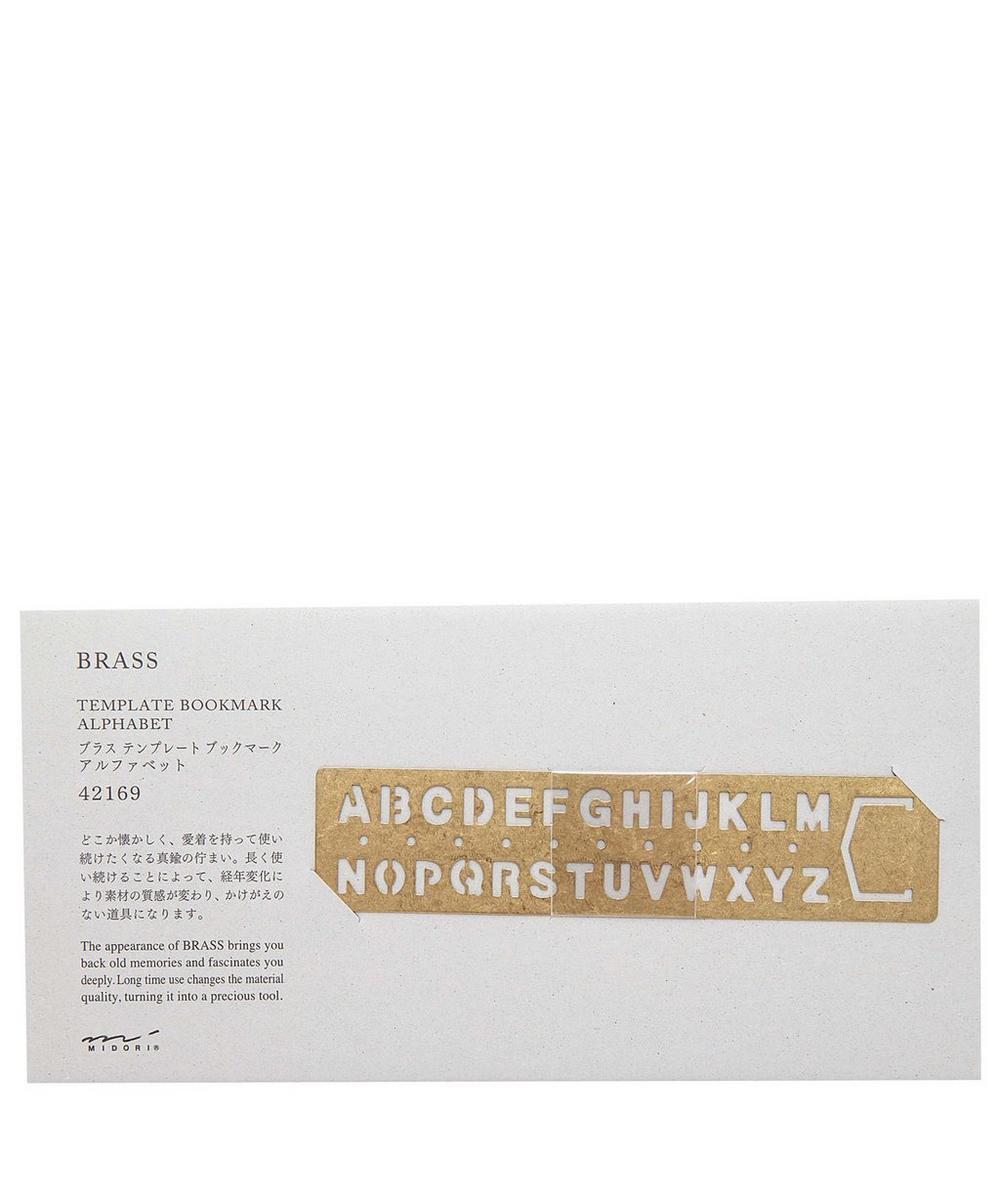 Brass Letter Stencil Bookmark