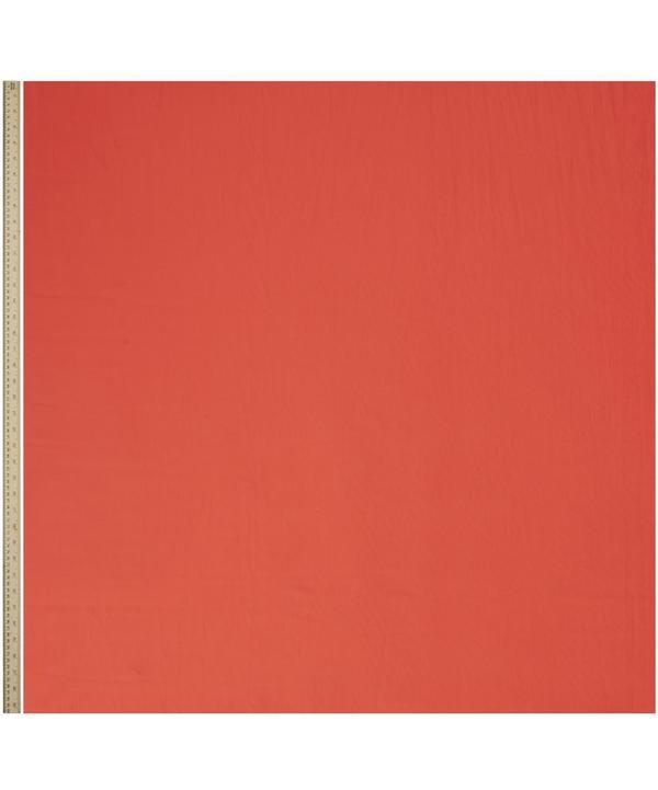 Pillbox Red Plain Tana Lawn Cotton