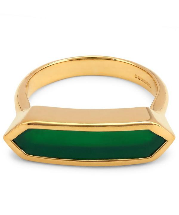 Vermeil Green Onyx Baja Ring