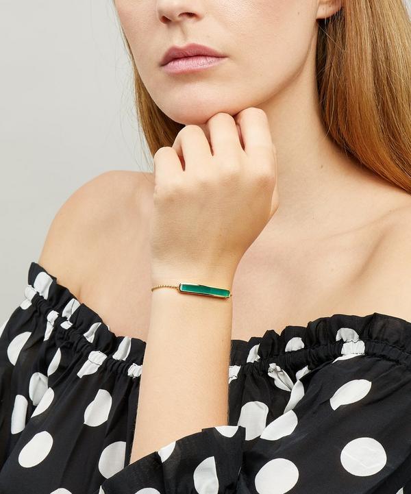 Vermeil Green Onyx Baja Chain Bracelet