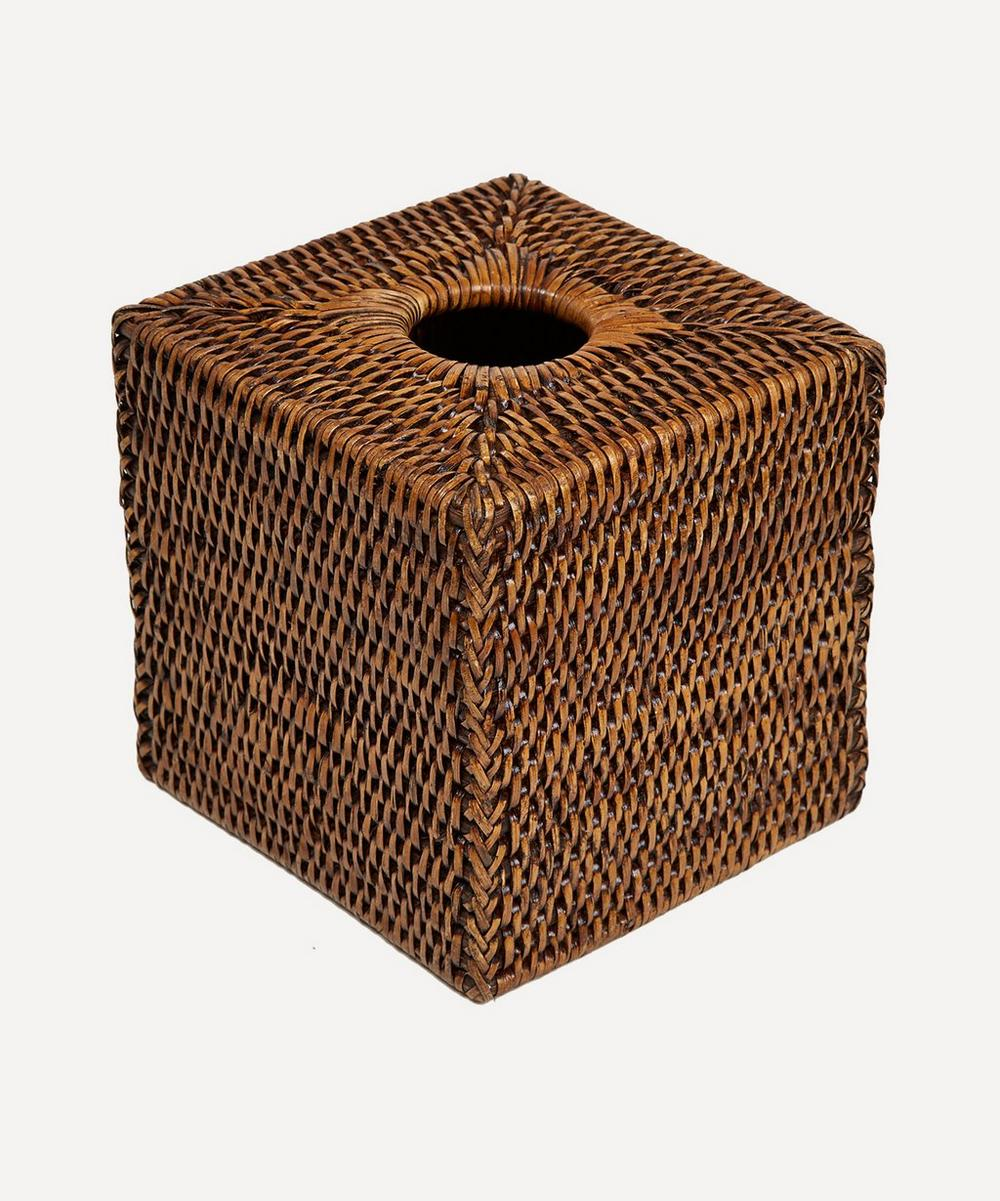 Andaman Rattan Tissue Box Cover