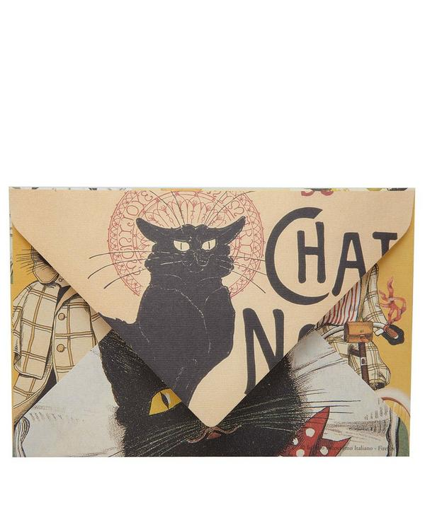 Cat Print Postcard and Envelope Set