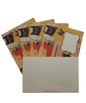 Cat Print Postcard and Envelope Set