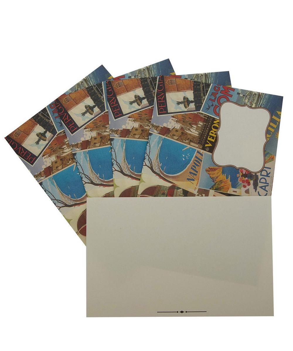 Italian Cities Postcard and Envelope Set