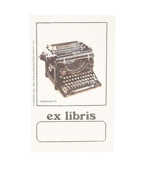 Typewriter Ex Libris Bookplate Gift Box