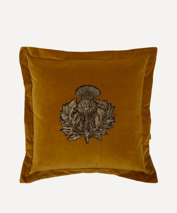 Thistle Velvet Cushion