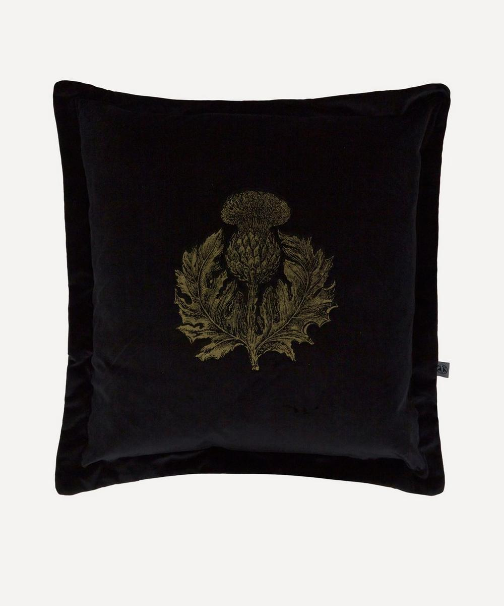 Thistle Velvet Cushion