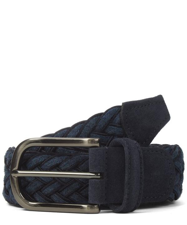 Wool and Leather Trim Belt