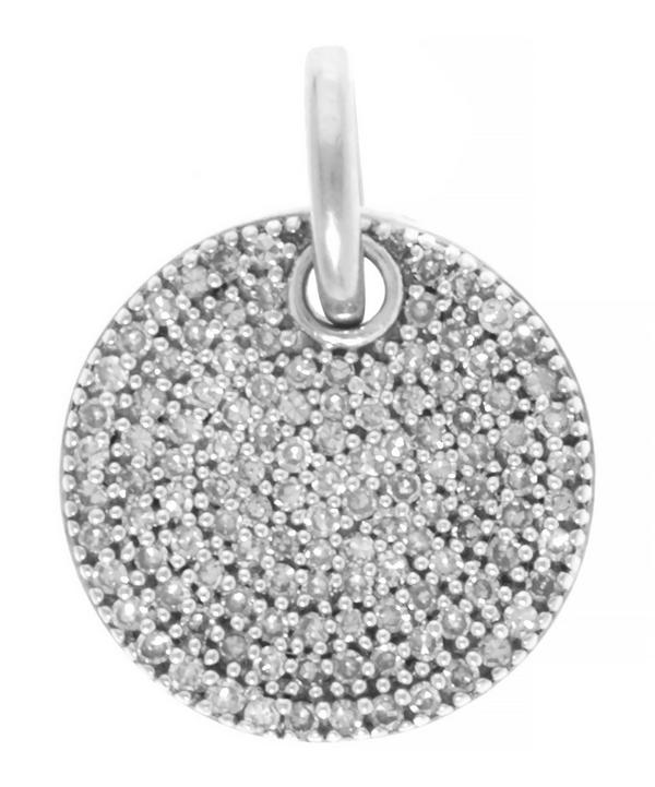 Silver Diamond Ava Disc Pendant