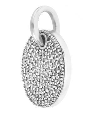 Silver Diamond Ava Disc Pendant