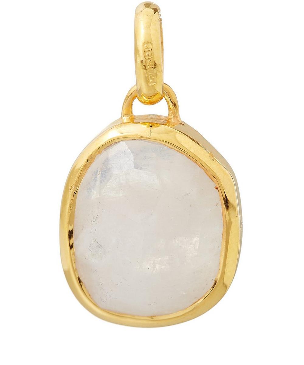 Medium Gold Vermeil Moonstone Siren Bezel Pendant