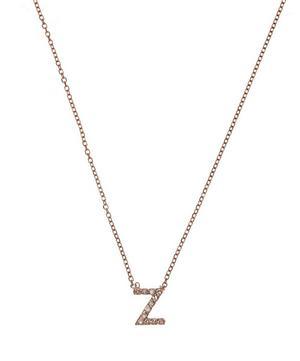 Rose Gold Diamond Letter Z Necklace