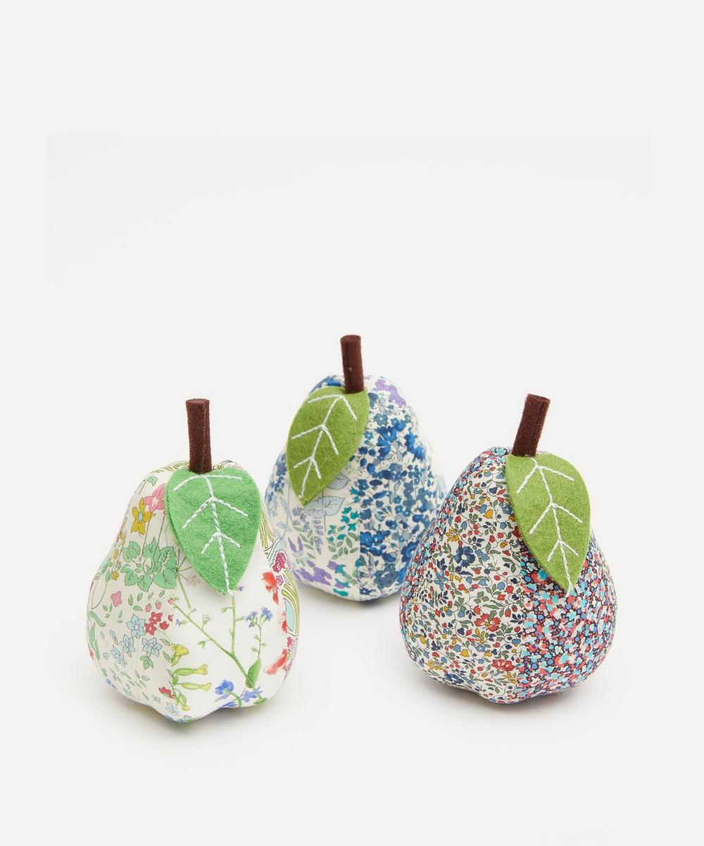 Patchwork Print Pear Pin Cushion