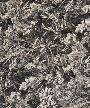 Royal Daisy Cotton Velvet in Velvet Pewter