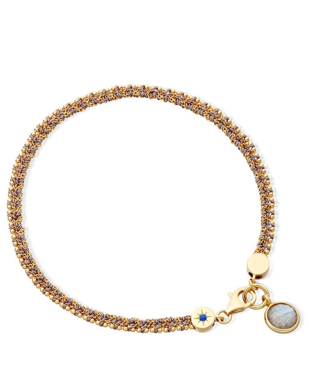Grey Labradorite Woven Biography Bracelet