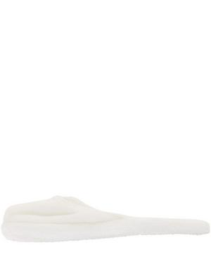 White Anatolia Slippers Size Small