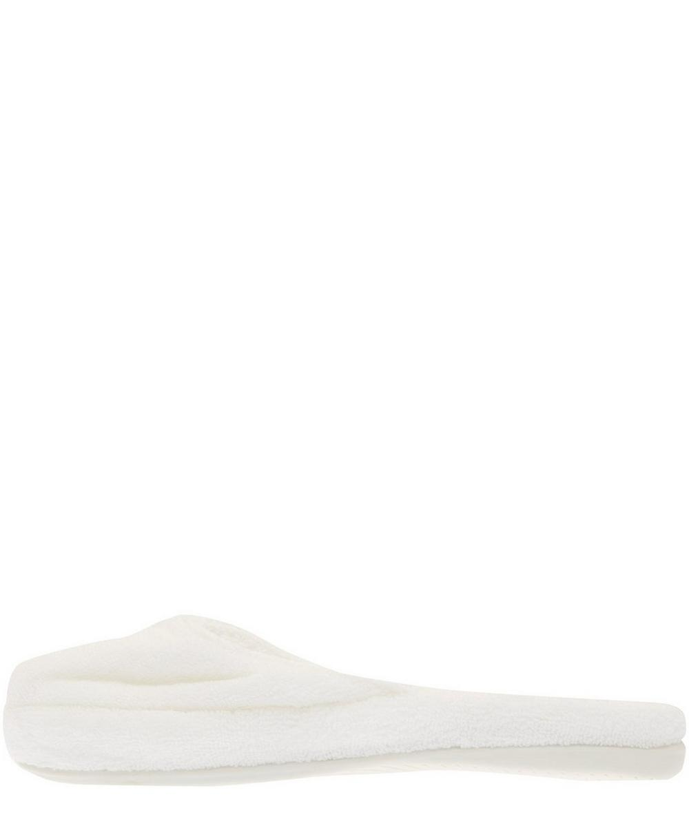 White Anatolia Slippers Size Large