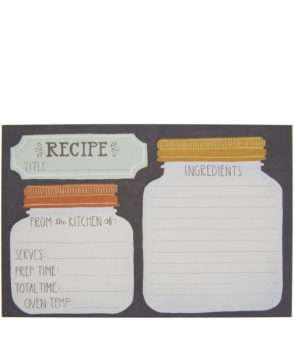 Mason Jar Recipe Card Set