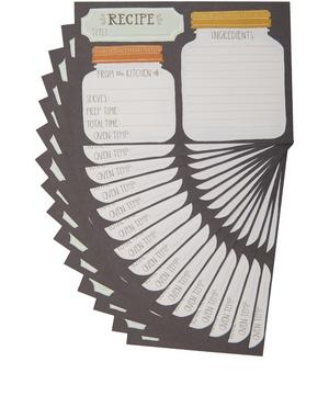 Mason Jar Recipe Card Set