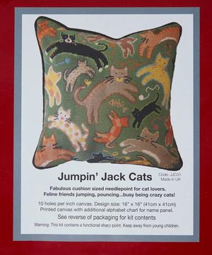 Jumpin' Jack Cats Tapestry Kit