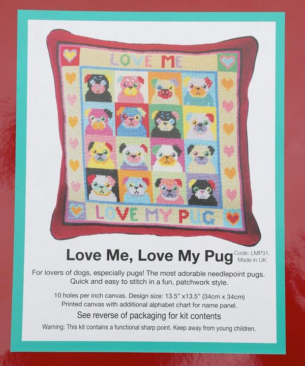 Love Me Love My Pug Needlework Kit