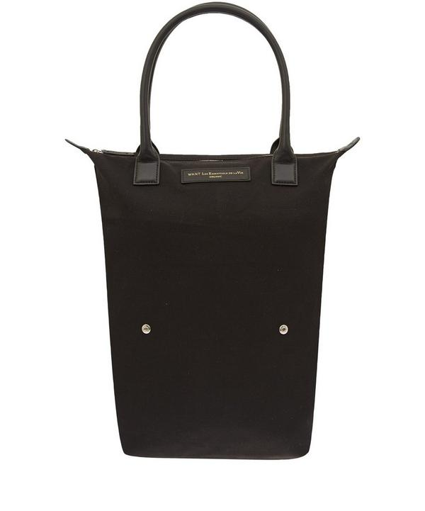 Black Orly Roll-up Tote Bag