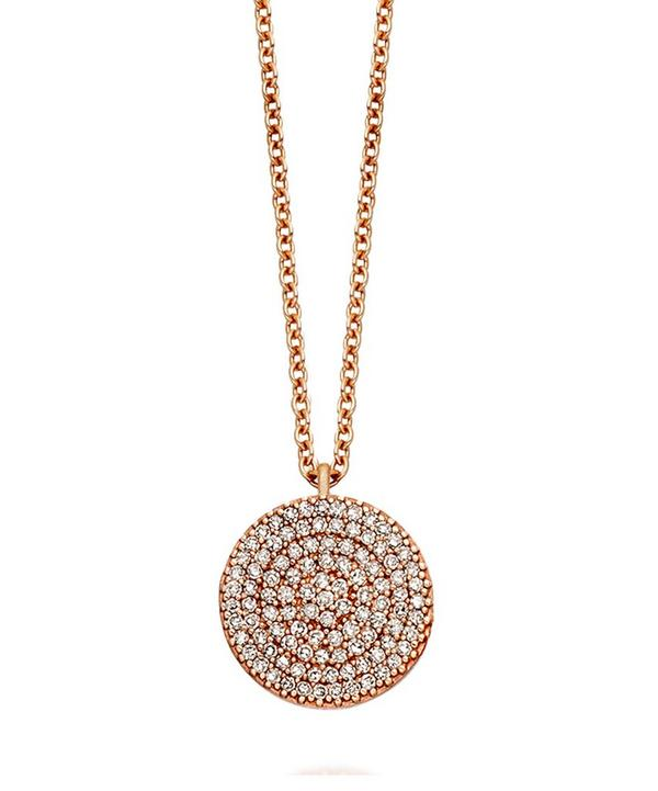 Small Rose Gold Grey Diamond Icon Necklace