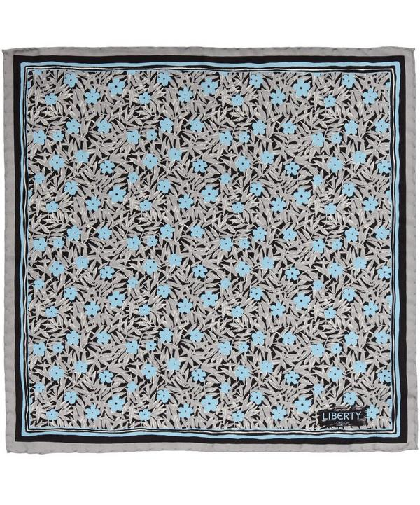 Grey Milford Silk Pocket Square