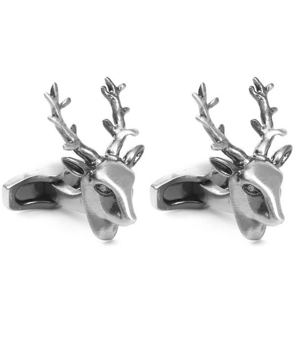 Simon Carter Antiqued Finish Stag Cufflinks