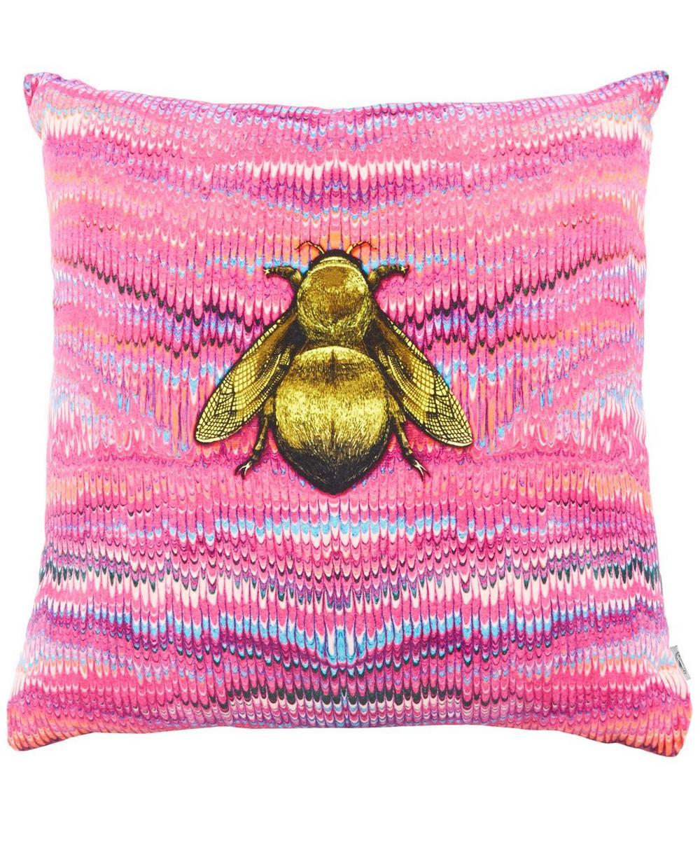 Ex Libris Bee Velvet Cushion