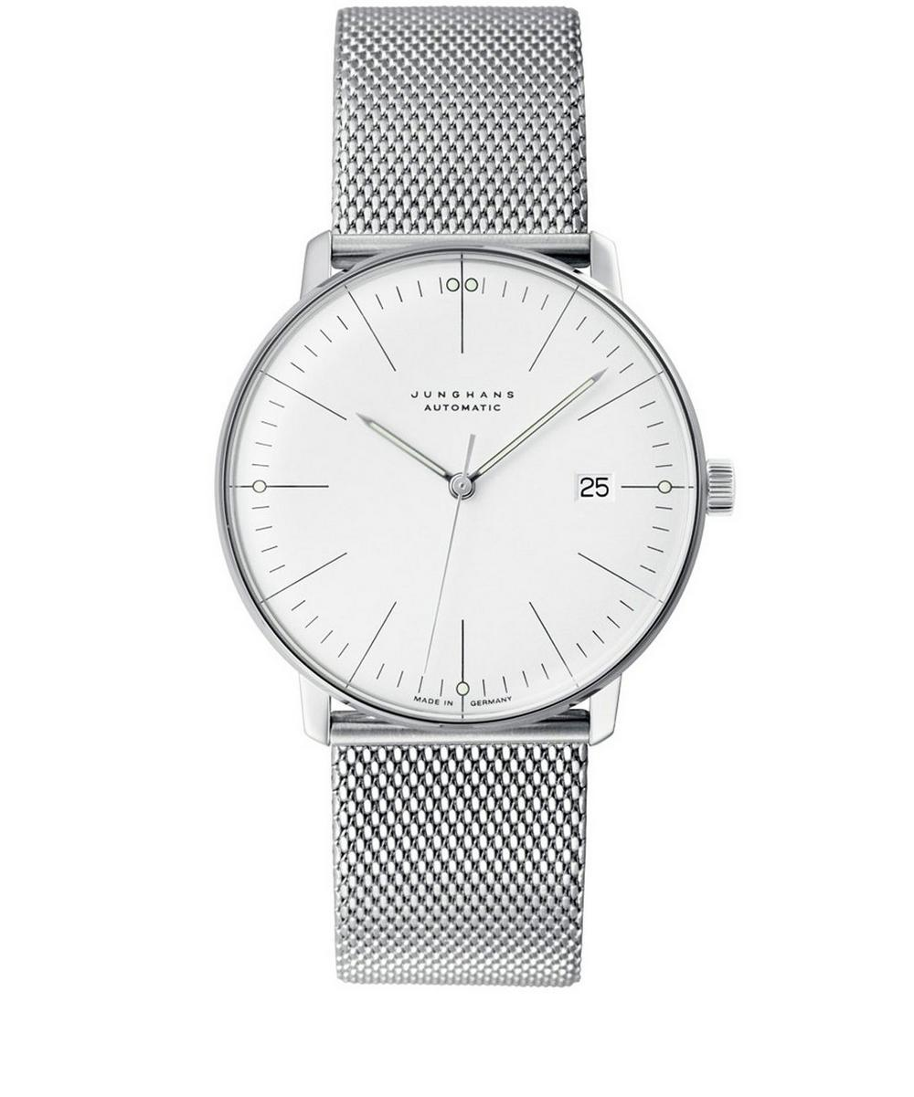 JUNGHANS STAINLESS STEEL MILANAISE MAX BILL AUTOMATIC WATCH