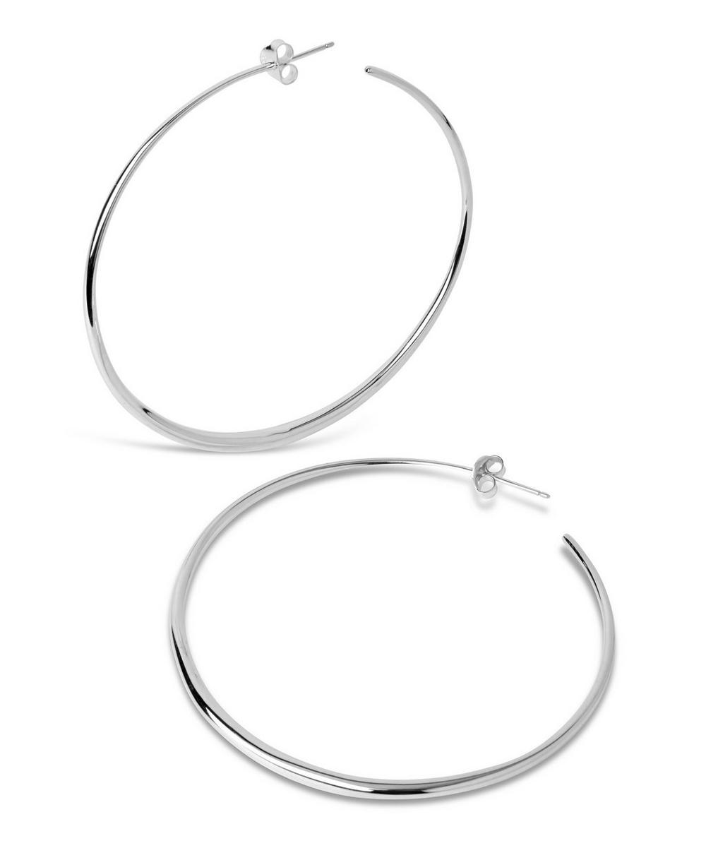 Large Tapering Hoop Earrings