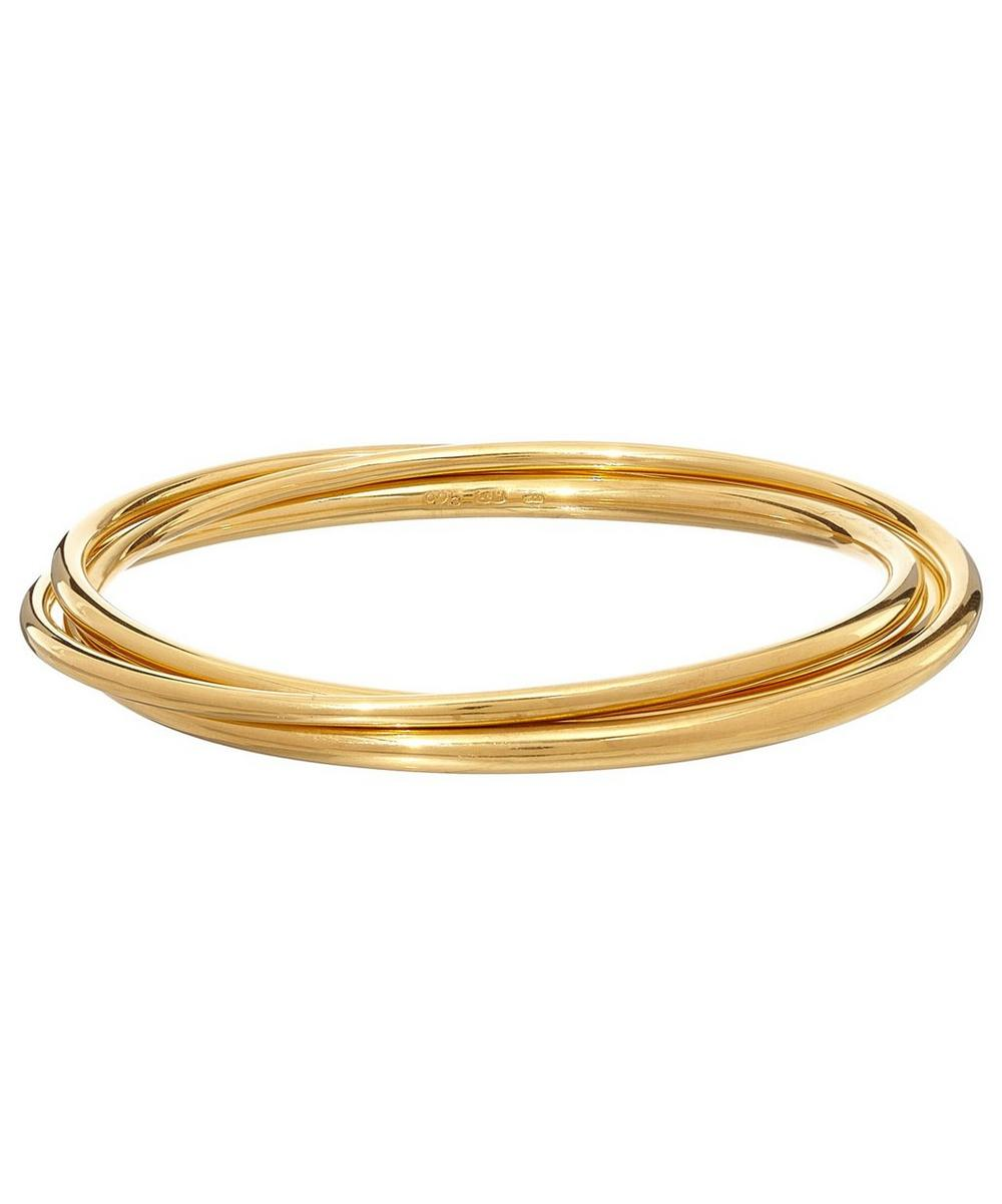 Vermeil Signature Triple Round Tapering Bangle