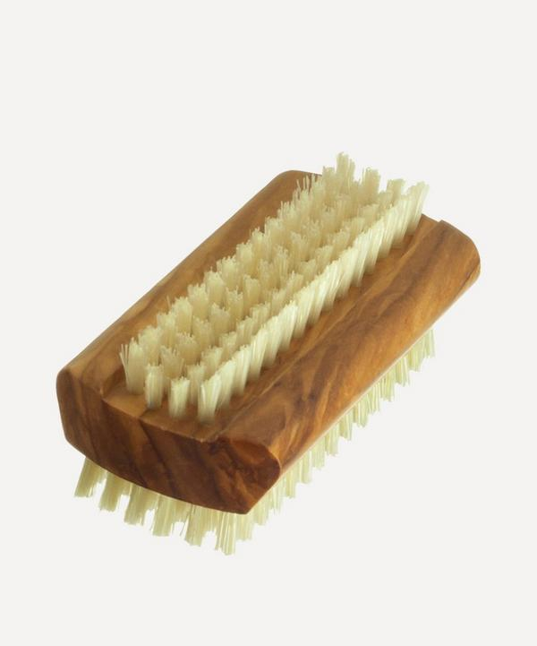 Olive Wood Dual-Sided Nail Brush