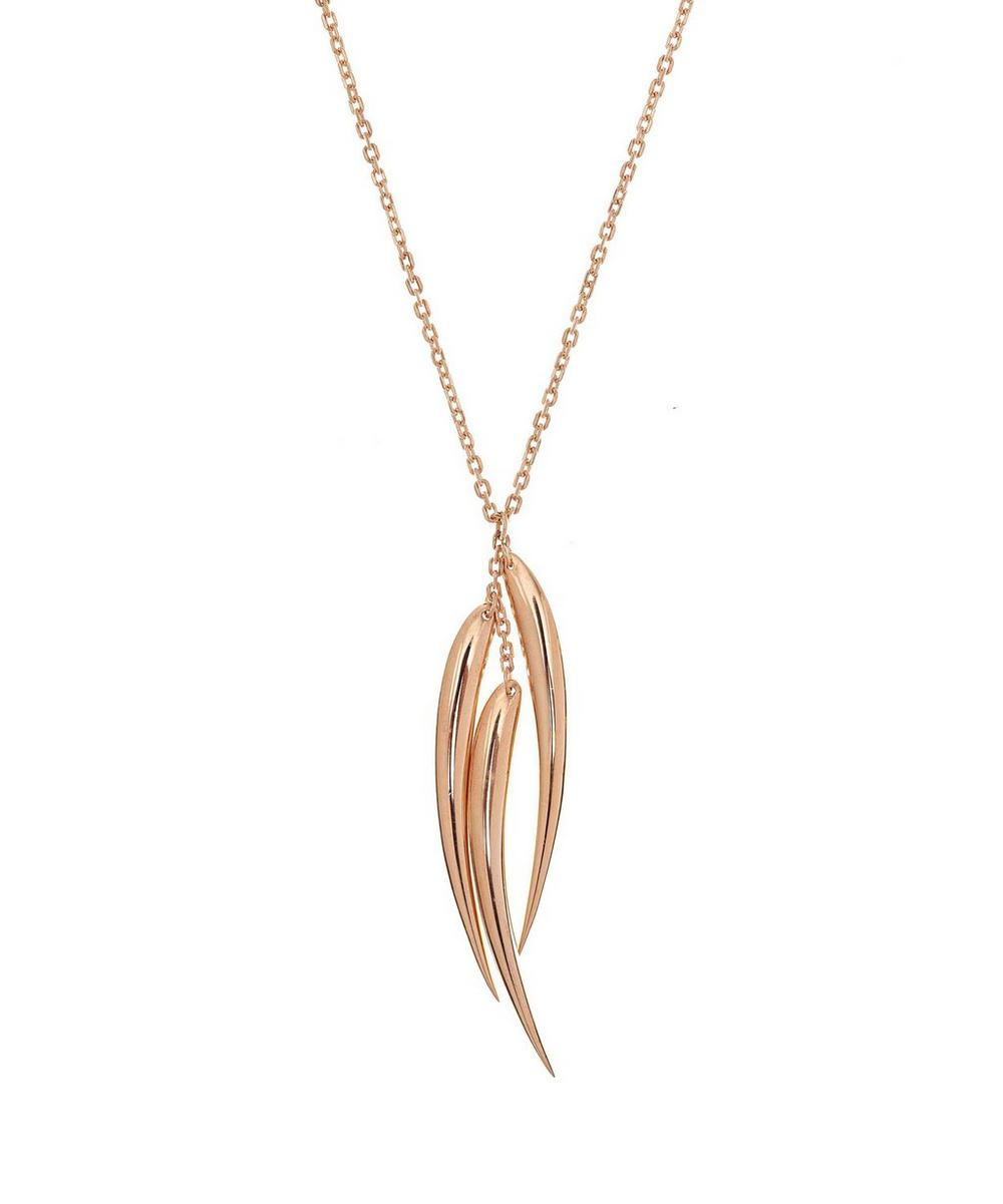 Rose Gold Vermeil Three Tusk Necklace