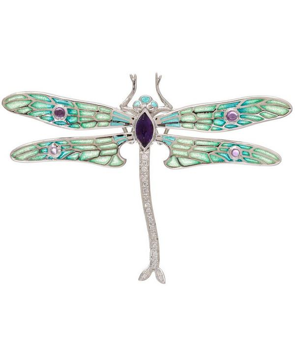 Diamond Dragonfly Brooch