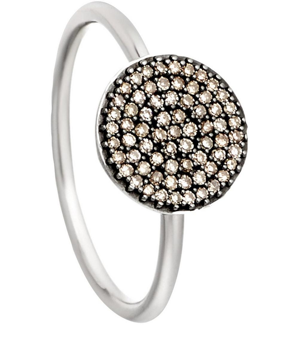 White Gold Cognac Diamond Icon Ring