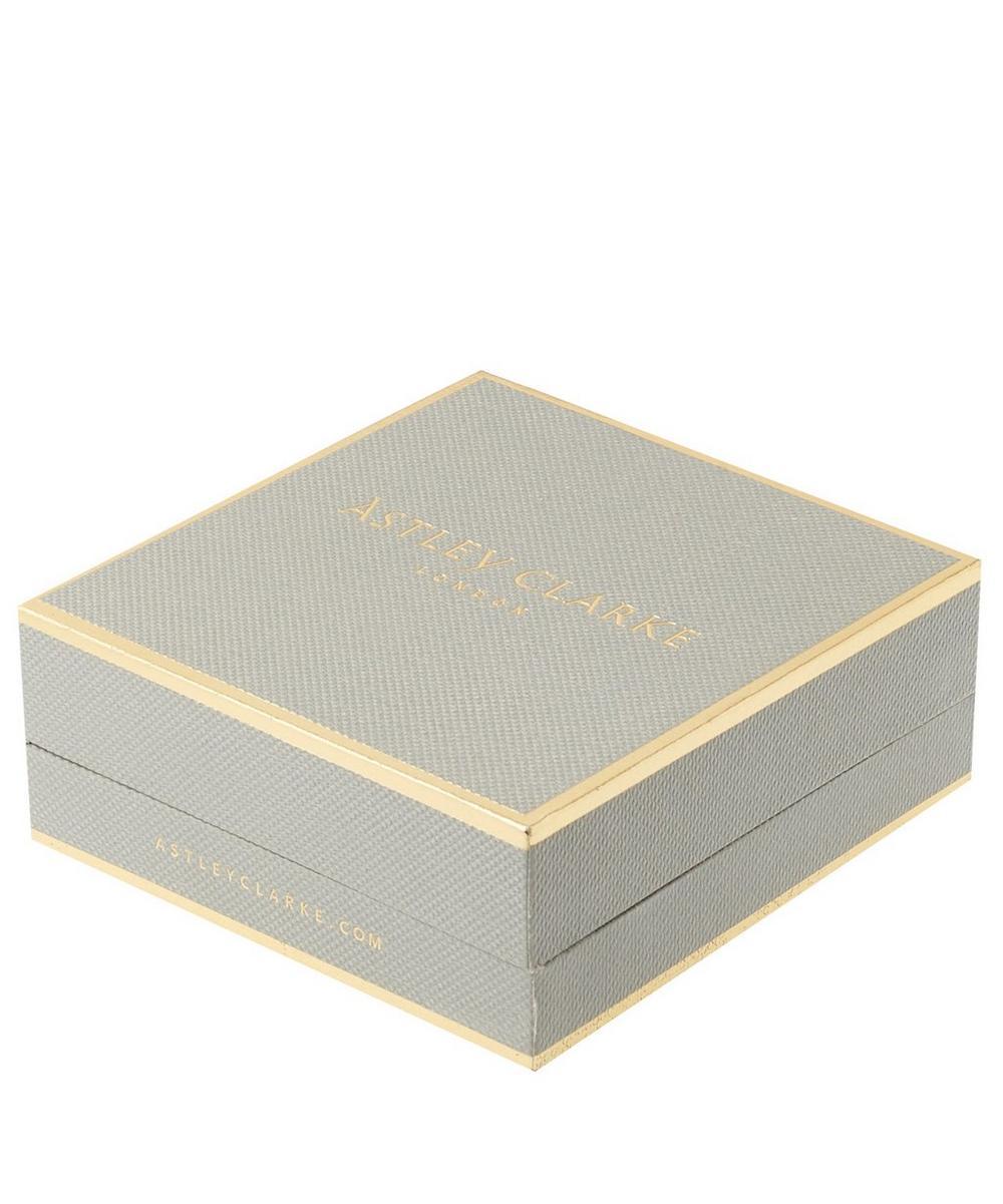 Small White Gold Cognac Diamond Icon Necklace