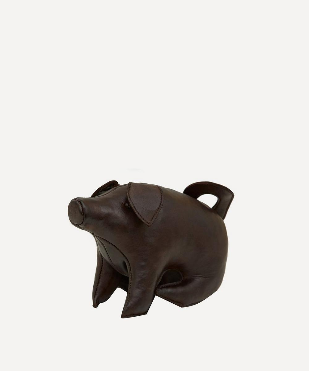 Mini Leather Sitting Pig