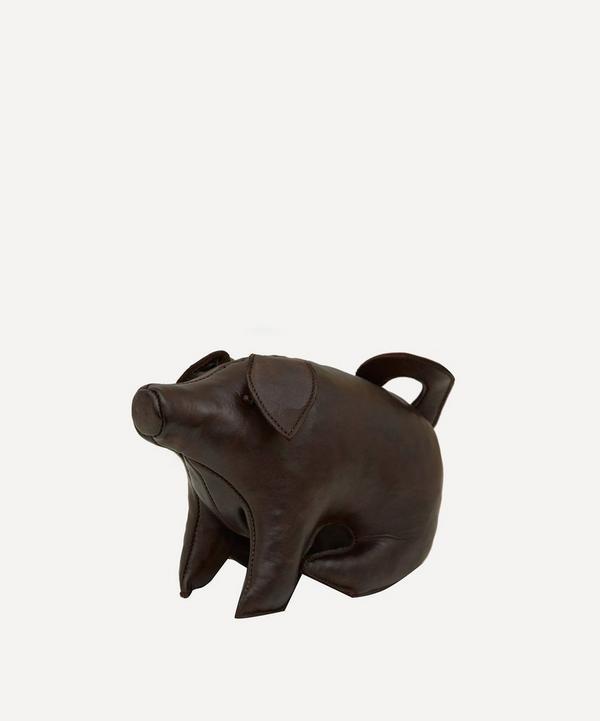 Mini Leather Sitting Pig