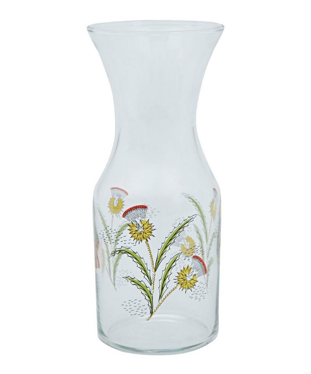 Deco Thistle Glass Decanter