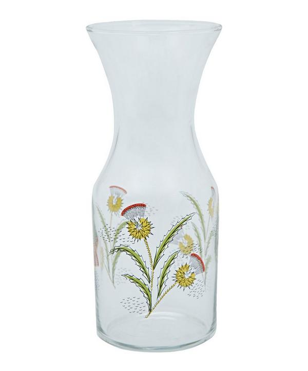 Deco Thistle Glass Decanter