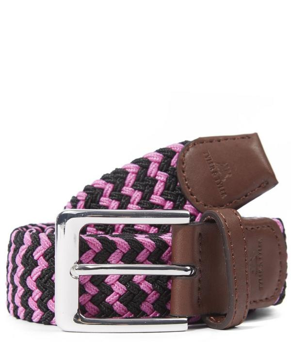 Pink Zig Zag Woven Belt