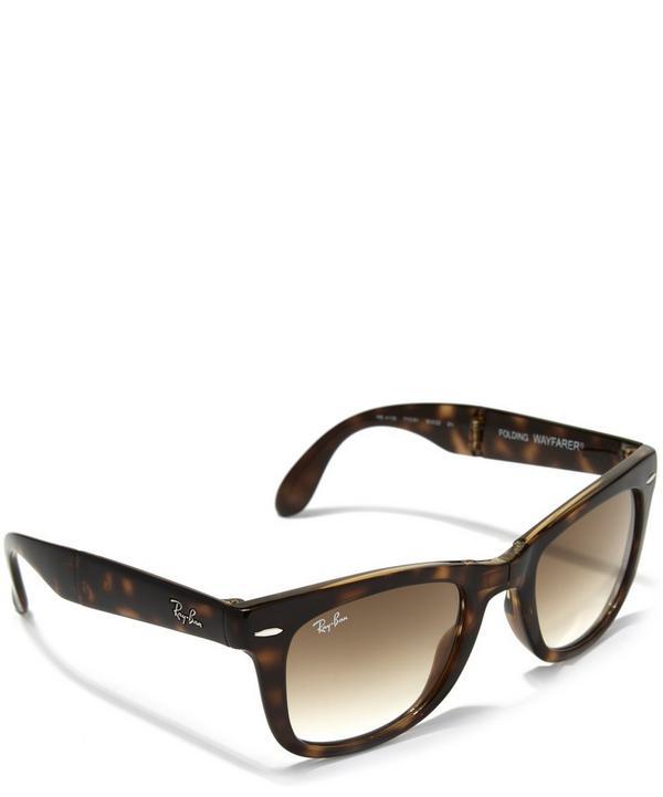 Tortoiseshell Folding Wayfarer Sunglasses