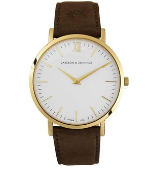 18ct Gold-Plated Lugano Watch