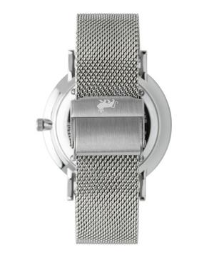 Lugano 40mm Silver-White Milanese Watch