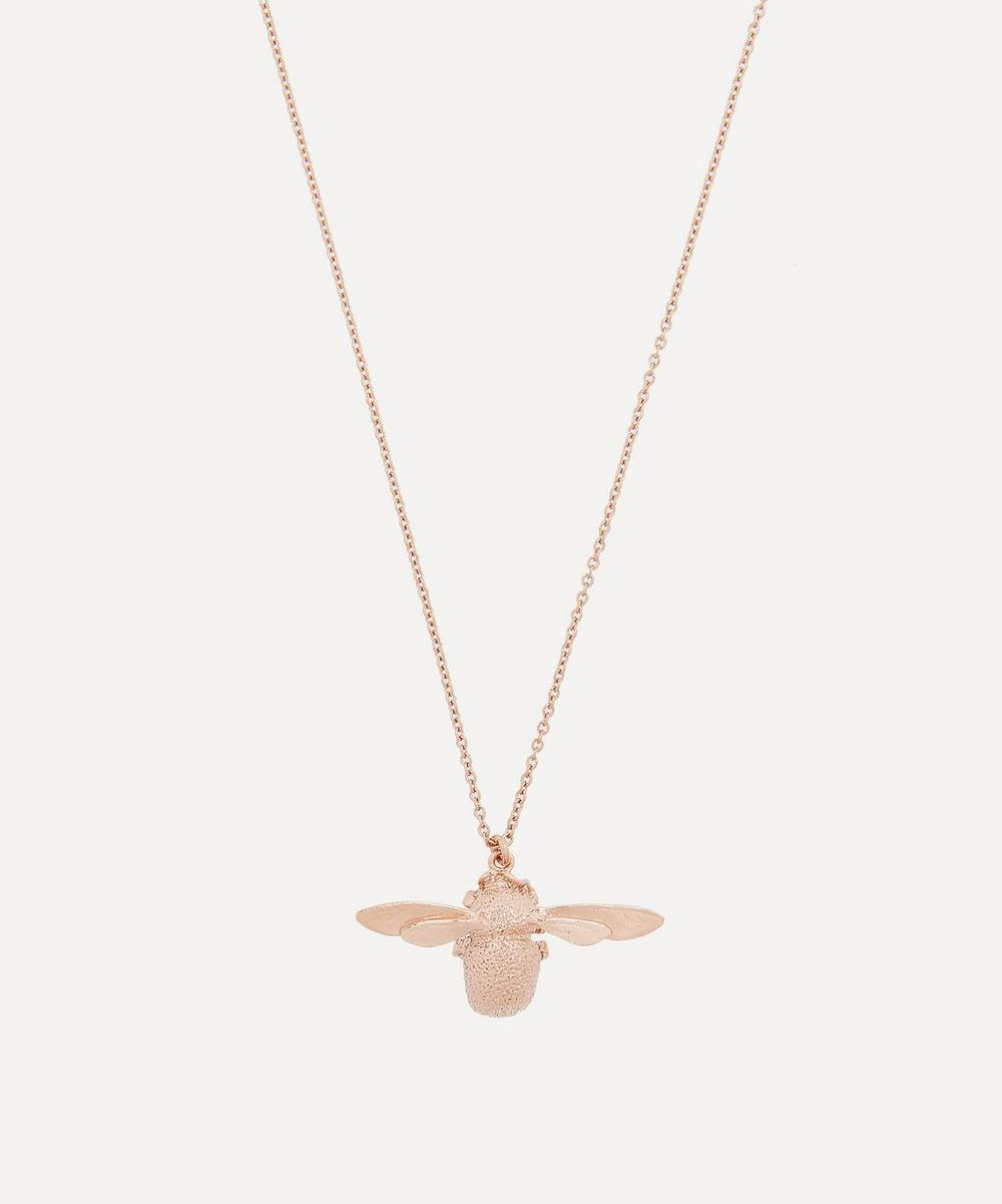 Rose Gold Vermeil Bumblebee Necklace